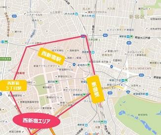 西新宿エリア