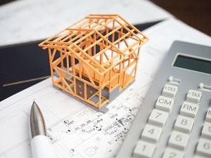 固定資産税・電卓・ペン・骨組み・再建築_s