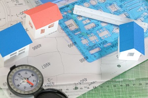 地域地区・住宅・設計図図面・定規・コンパス_s
